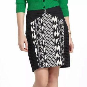 Floreat Pintuck Ikat Arpeggio Pencil Skirt
